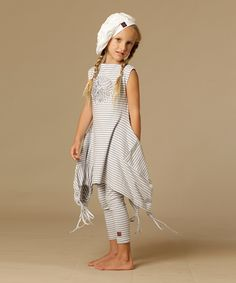 Another great find on #zulily! Silver & White Hanna Tunic - Toddler & Girls by KidCuteTure #zulilyfinds