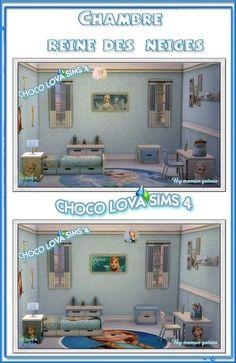 Frozen room by Maman Gateau at Choco & Lova Sims4 via Sims 4 Updates