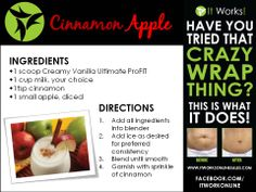 Ultimate ProFIT Smoothie Follow me to get more It Works! recipes and product info. http://reannamilbrett.myitworks.com