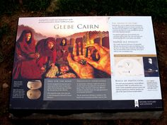 Descriptive Sign at Glebe Cairn Site (2013), Argyll and Bute, Scotland (J. Demetrescu 2013)