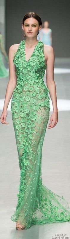 Michael Cinco Spring 2015 RTW  women fashion outfit clothing style apparel @roressclothes closet ideas