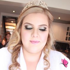 There's nothing more beautiful than a bride looking and feeling her most fabulous on her wedding day. #gettingmarried #weddingbells #herecomesthebride #BridalMakeup by Kay of #kayanabeauty #kayanabeautytrends