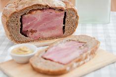 Kenyérben sült sonka húsvétra Recept képpel - Mindmegette.hu - Receptek Sandwiches, Food And Drink, Easter, Paninis