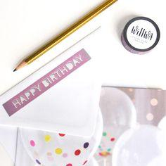 Happy Birthday Washi Tape | Design by Willwa