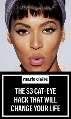 Beyoncé's Makeup Artist Has a $3 Cat-Eye Hack That Will Change Your Life