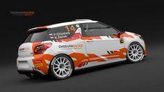 Chodura Racing pro P. Chodura - K. Žáček (Citroen DS3 R3) - návrh designu včetně realizace.