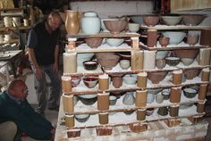 Firing gas kiln, Nico Liebenberg studio