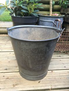 old army bucket found at Ardingly antiques fair.
