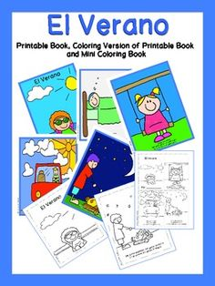 Spanish Summer Flip Books and Vocabulary Worksheets | Pinterest ...