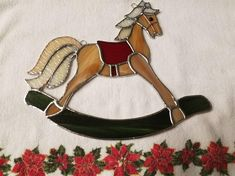 Stained Glass Rocking Horse Christmas Decoration Baby Shower