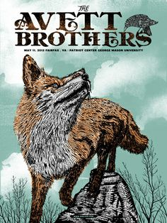 my 2 favorite things! avett brothers & foxes. & the date is close to by birthday.. perfect <3