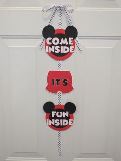 Mickey Mouse Clubhouse Door SignCome Inside by LittleDawgDesigns