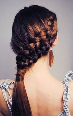 Braided Hairstyles: Pinterest Inspiration For Dressing Up a Ponytail | Beauty High - I miss my long hair :(