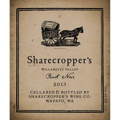 Owen Roe Sharecropper's Pinot Noir 2013