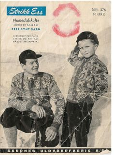 Numedalskofte 376 Vintage Knitting, Ravelry, Knitting Patterns, Wool, Handmade, Threading, Hand Made, Cable Knitting Patterns, Craft