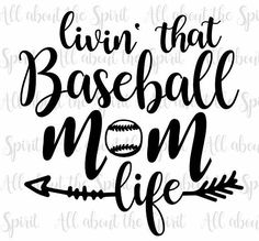 SVG Baseball Mom Cricut svg Silhouette dxf Livin the Baseball Mom life svg for Cricut Baseball svg designs mom svg cut files baseball dxf Baseball Game Outfits, Baseball Mom Shirts, Baseball Clothes, Baseball Manager, Espn Baseball, Baseball Season, Vinyl Projects, Circuit Projects, Baseball Crafts