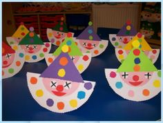 Kids Crafts, Clown Crafts, Circus Crafts, Carnival Crafts, Christmas Crafts For Kids, Toddler Crafts, Projects For Kids, Preschool Activities, Diy And Crafts