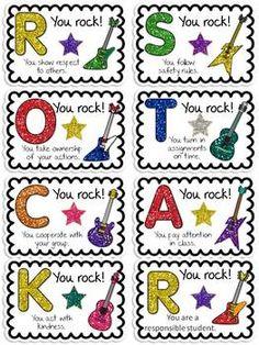 Rock Star Students - cute classroom management idea