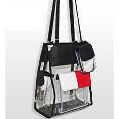 Clear Handbag with Front Pocket In Stock: $45