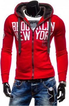 MarKyi 2017 New Spring Letters Printed Hoodies Sweatshirts Long Sleeve Casual Hooded Men's Zipper Tracksuit Men Motorcycle Jacket, Brooklyn, Sweatshirts, Men's Hoodies, Zipper, Long Sleeve, Casual, Printed Hoodies, Jackets