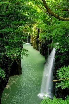 Natural Falls - Waterfall canyon,Takachiho - Japan.