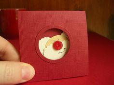 Punch Art Fun: Punch Art Christmas Cards - Santa porthole (circle)