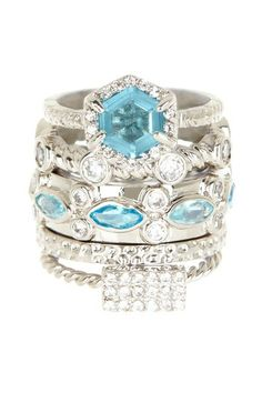 Beyond Rings Scottish Party Stack Ring Set by Beyond Rings on @HauteLook