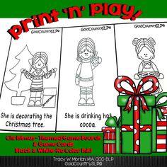 NO PREP! Christmas game boards and activities targeting various language skills.