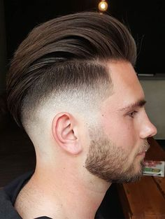 Long Slicked Back Undercut Style for Men with Beard 2017-2018