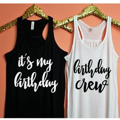 Birthday Crew Tank, XS-2XL, birthday tank, 21st birthday, 30th birthday, birthday shirt, 30th birthday shirt, 21st birthday shirt by ShopatBash on Etsy
