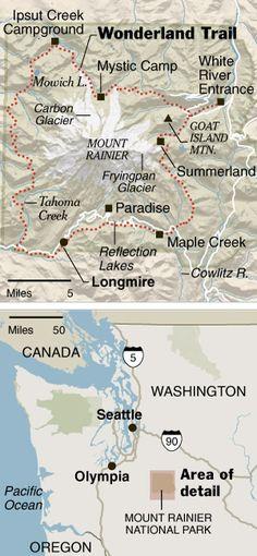 Wonderland Trail, Mount Rainier