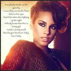 Alicia keys girl on fire lyrics