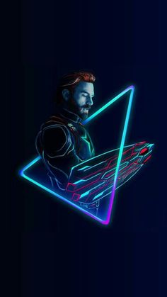 Chris ❤️ Evans Art (Credit to owner) Captain-America-Neon-Avengers-infinity-War-iPhone-Wallpaper - iPhone Wallpapers Marvel Dc Comics, Marvel Heroes, Marvel Characters, Marvel Movies, Crane Rouge, 4k Wallpaper Android, Mobile Wallpaper, Iphone Wallpapers, Skull Wallpaper