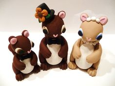 Squirrel Family Wedding Cake Topper  Choose Your by topofthecake