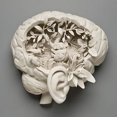 Kate MacDowell -  could this odd but lovely art work mean 'I'm thinking of spring?'