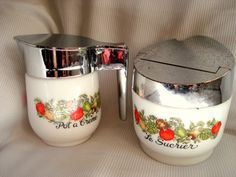 Vintage Sugar and Creamer Semco Spice o Life by BedGlassandBeyond, $15.00