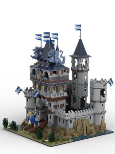 Reports, news, pics, videos, discussions and documentation from a studded world. /r/lego is about all things LEGO®. Lego Castle Instructions, Lego Creations Instructions, Lego Burg, Chateau Medieval, Lego Knights, Amazing Lego Creations, Lego Pictures, Lego 4, Shopping