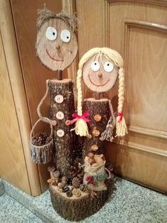 Yard Art Crafts, Diy Crafts For Home Decor, Diy Crafts To Do, Rock Crafts, Garden Crafts, Creative Crafts, Christmas Crafts, Rustic Wood Crafts, Wood Slice Crafts
