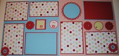 Very cute very simple scrapbook page layout idea
