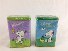 Set Of 2 1999 Whitman's Surprise Tin w/ SNOOPY & WOODSTOCK hinged lid, Unopened - SOLD