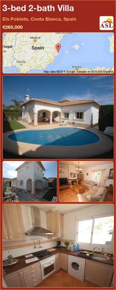 3-bed 2-bath Villa in Els Poblets, Costa Blanca, Spain ►€265,000 #PropertyForSaleInSpain