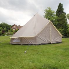 Lightweight Zipped In Ground Sheet Bell Tent - from Boutique Camping UK Weekend Camping Trip, Camping Glamping, 5m Bell Tent, Bell Tent Glamping, Net Door, Boutique Camping, Canvas Bell Tent, Windy Weather, Family Tent