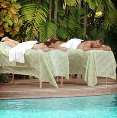 Sweet Warm Chocolate & Hot Stone Massage by Planet Massage poolside at the Riverside Hotel
