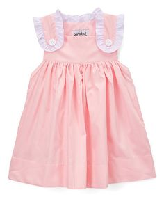 Love this Pink & White Ruffle A-Line Dress - Toddler & Girls on #zulily! #zulilyfinds