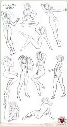 Pin Up and Cartoon Girls: How to draw Pin Up - Poses