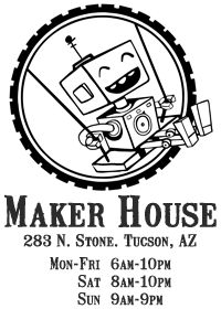 Maker House. We love this place! Come craft with us on Wednesday evenings, 5-10 PM! #craftingforward