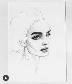 kuva discovered by NK. Discover (and save!) your own images and videos on We Heart It Girl Drawing Sketches, Face Sketch, Pencil Art Drawings, Teenage Drawings, Portrait Art, Portraits, Color Pencil Art, True Art, Art Journal Inspiration