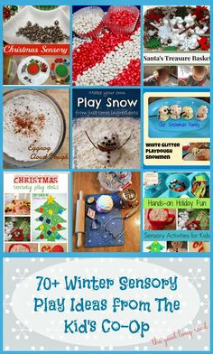 The Good Long Road: Jolly Jell-O Christmas Sensory Tray & 70+ Holiday and Winter Sensory Play Ideas from The Kid's Co-Op