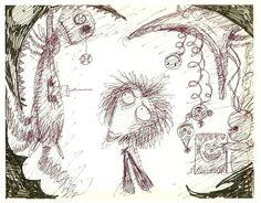 "Concept Art for ""Vincent"" by Tim Burton"
