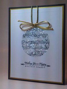Easy & Beautiful Christmas Cards Handmade Ideas - Christmas cards handmade design ideas 7 Lots of great card ideas - Beautiful Christmas Cards, Christmas Cards To Make, Christmas Diy, Elegant Christmas, Diy Holiday Cards, Creative Christmas Cards, Christmas Music, Funny Christmas, Musical Christmas Cards